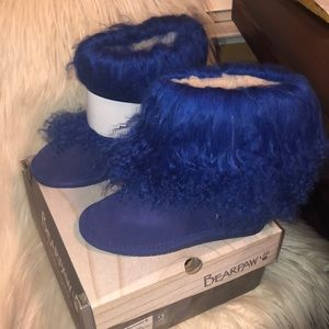 BearPaw cobalt blue girls Boo boots